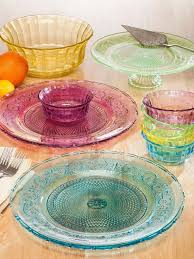 206 best dishes in patterns i love images on taylor throughout colored glass