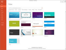 Use Slide Design Templates In Powerpoint 2013 Microsoft