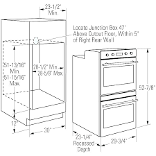 wall oven cabinet dimensions dimension double width cool sizes for standard cabine