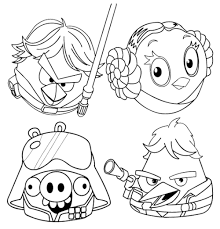 awesome star wars cartoon characters coloring pages free 20 m angry bird coloring page