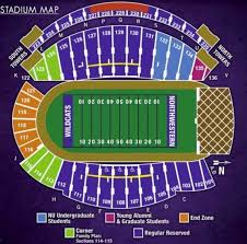 Lane Stadium Seating Chart Student Section Northwestern University Football Stadium Seating Chart