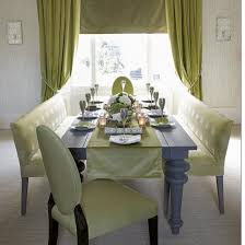 green dining room furniture. Beautiful Double Tufted Benches With Blue Dining Table And Upholstery Chair Also Green Room Curtain Windows Furniture A