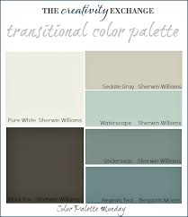 paint colors that go with grayTransitional Paint Color Palette Color Palette Monday 3