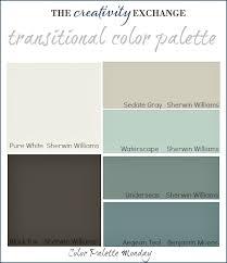 cool gray paint colorsTransitional Paint Color Palette Color Palette Monday 3