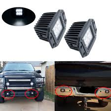 High Intensity Backup Lights Us 10 23 14 Off Flush Mount Backup Reverse Front Rear Bumper Led Lights Cube Pods Fog Lamp For Offroad Lada Niva Uaz Toyota Audi Led Work Lights In