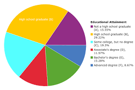 Darren White Female Educational Attainment Pie Chart On