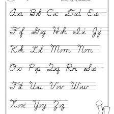 Free Cursive Penmanship Worksheets For Adults