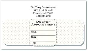 Doctor Appointment Card Template Doctor Appointment Template