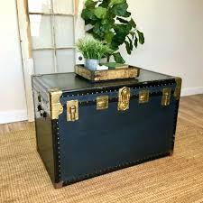 vintage storage chest large wooden