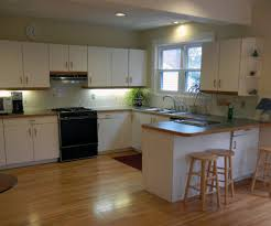 image of painting wood and laminate cabinets