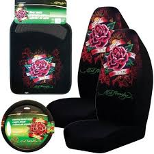 steering wheel cover ed hardy seat covers