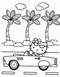Large Hello Kitty Coloring Pages And Print For Adult