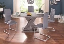 Essgruppe Mit 4 Stühlen Und Tisch In Zement Optik Kaufen Baur