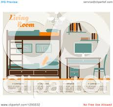 Teal And Orange Bedroom Clipart Of A Tan Teal Brown And Orange Bedroom With Bunk Beds And