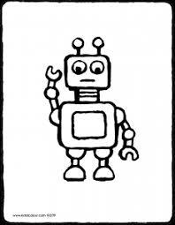 Kleurplaten Robotten
