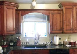 wood valance over kitchen sink cabinet diy