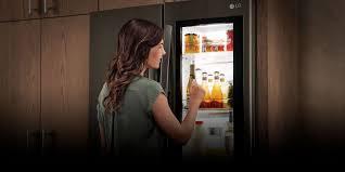 lg refrigerator instaview. raid the fridge without losing your cool. lg\u0027s instaview™ lg refrigerator instaview e