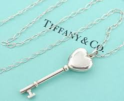 tiffany co heart key locket pendant