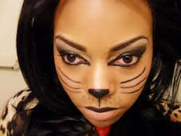 cat halloween makeup step by step