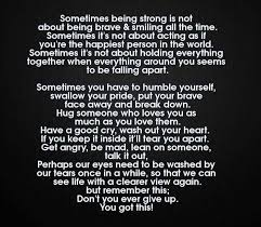 Life Love Quotes Sometimes Being Strong Is Not About Being Brave Mesmerizing Quotes On Being Strong