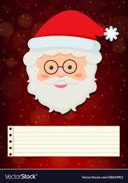 Christmas Card Template With Santa