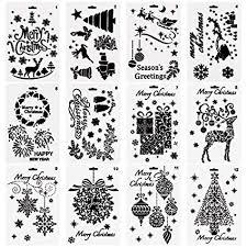 Amazon Com Urlighting Christmas Template Stencils 12 Pcs Diy