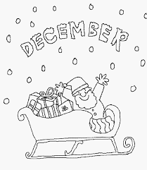 December Coloring Page Color Book