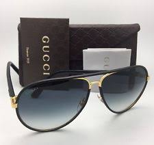 gucci 2887. new gucci sunglasses gg 2887/s uzajj black leather \u0026 gold frames w/ grey gucci 2887 s