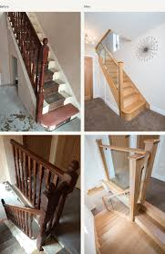 new staircase ideas. Fine Ideas Before And After Glass Wood Staircases Inside New Staircase Ideas E