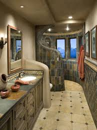 love the shower no curtain no door no obstruction