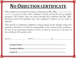 no objection letter sample for job attendance template doc no objection certificate templates as