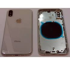 iPhone XS A2097 A2100 white back cover or battery cover with central  housing or frame