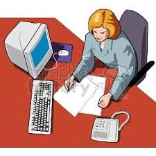 secretary desk clipart. Beautiful Desk Officemanager01 160365 Clip Art Images Illustrations And Royalty Free  Image   EPS Illustration  GraphicsFactorycom Intended Secretary Desk Clipart I