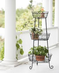 Clever 8594336 540 Monelle Tower Black Metal 3 Tier Round Plant Stand in Metal  Plant Stands