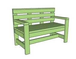 ilration of a green wooden bench