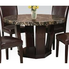 fascinating black marble dining table round acme furniture round dining black marble dining table set