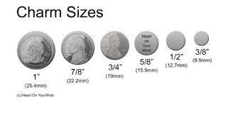 Charm Size Information