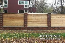 brick fences. Contemporary Brick Brickwoodfencecombination With Brick Fences R