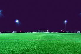 green grass football field. Evening, Field, Football Goal, Grass, Green, Ground, Lawn, Lights, Night, Open Outdoors, Soccer, Soccer Spotlight, Stadium Wallpaper Green Grass Field