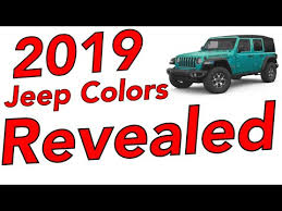 2019 Jeep Grand Cherokee Color Chart 2019 Jeep Colors Revealed Whats New Whats Leaving