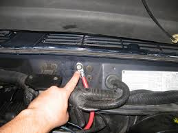replaced engine ground strap writeup lots of picks jeepforum com the top bolt is a 5 8