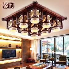get ations xin yun classical chinese ceiling rectangular solid wood classical ceramic lighting lamps living room dining room