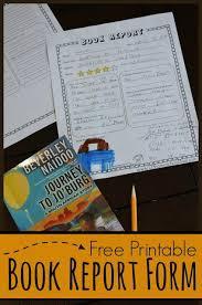 Free Book Report Template 123 Homeschool 4 Me