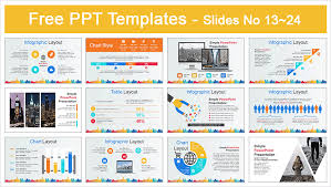 Ppt Business Template City Buildings Business Powerpoint Template