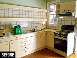 an outdated kitchen just before a renovation