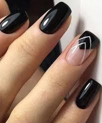 por black nail art designs 2018 for prom