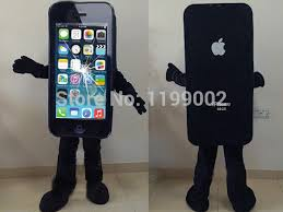 iphone costume. high quality damaged broken screen iphone mascot costume mobile phone cellphone free shipping