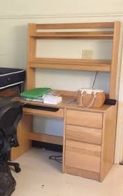 dorm room computer desk with hutch