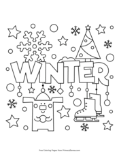 Parents can print these winter coloring pages for kids at home. Winter Coloring Pages Free Printable Pdf From Primarygames