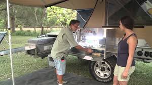 Camper Trailer Kitchen Camper Trailer Australia Review Aussie Swag Ultra D Youtube